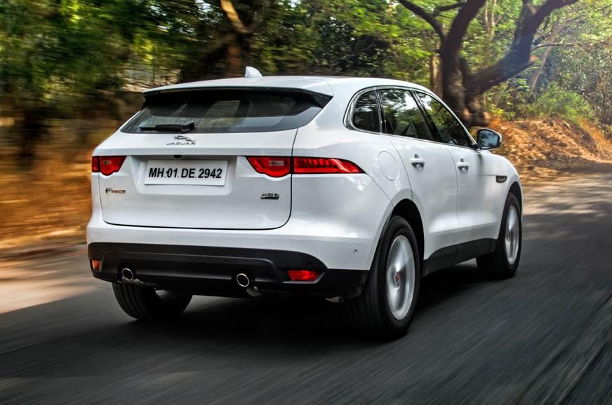 Jaguar F-Pace petrol rear action