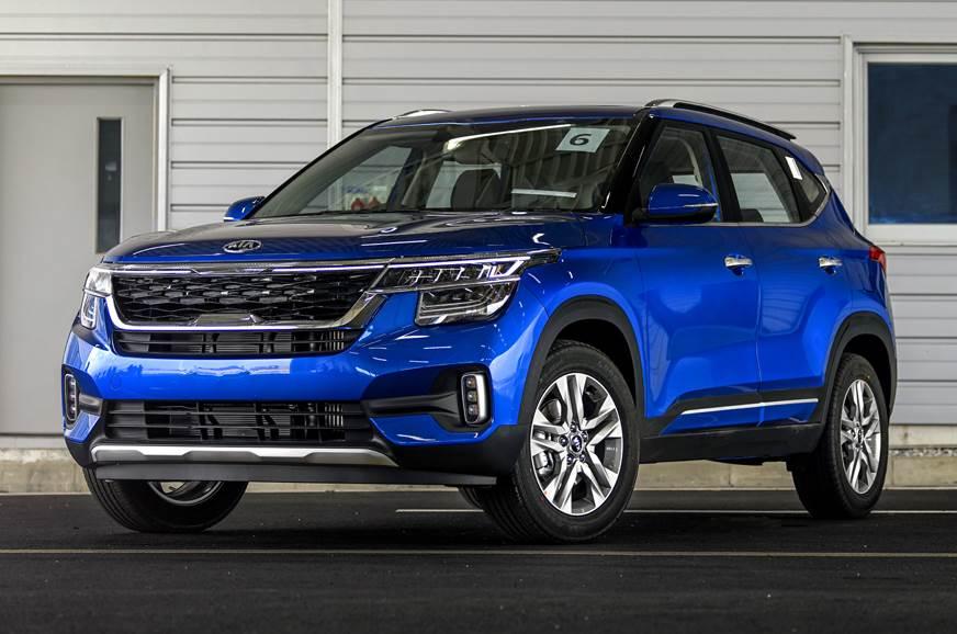 Kia Seltos blue front static