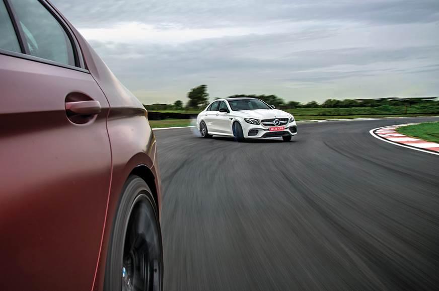 2018 BMW M5 vs Mercedes-AMG E 63 S action