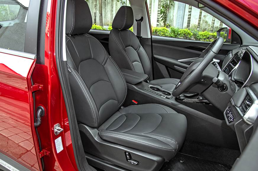 MG Hector petrol-automatic red front seat