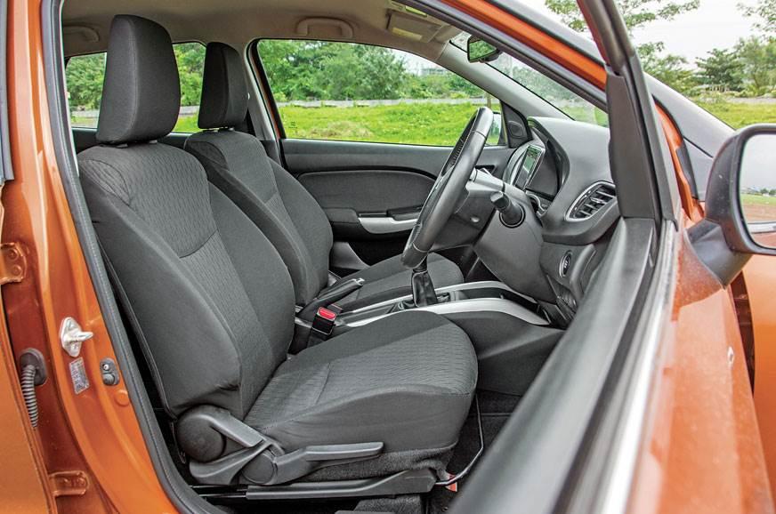 Maruti Suzuki Baleno front seats