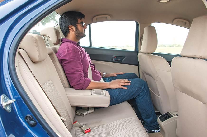 Maruti Suzuki Dzire rear seats