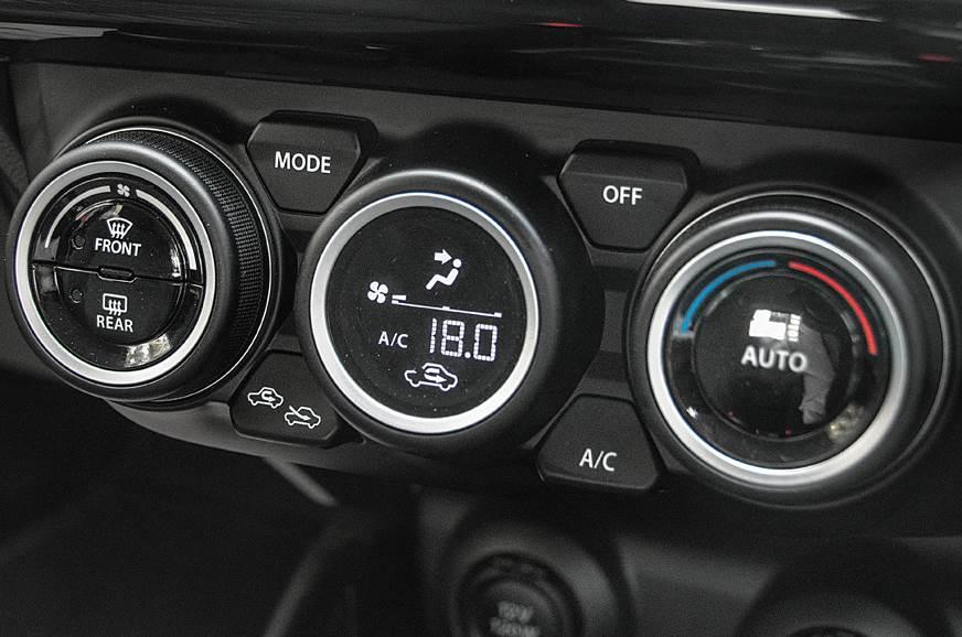Maruti Suzuki Swift AC controls