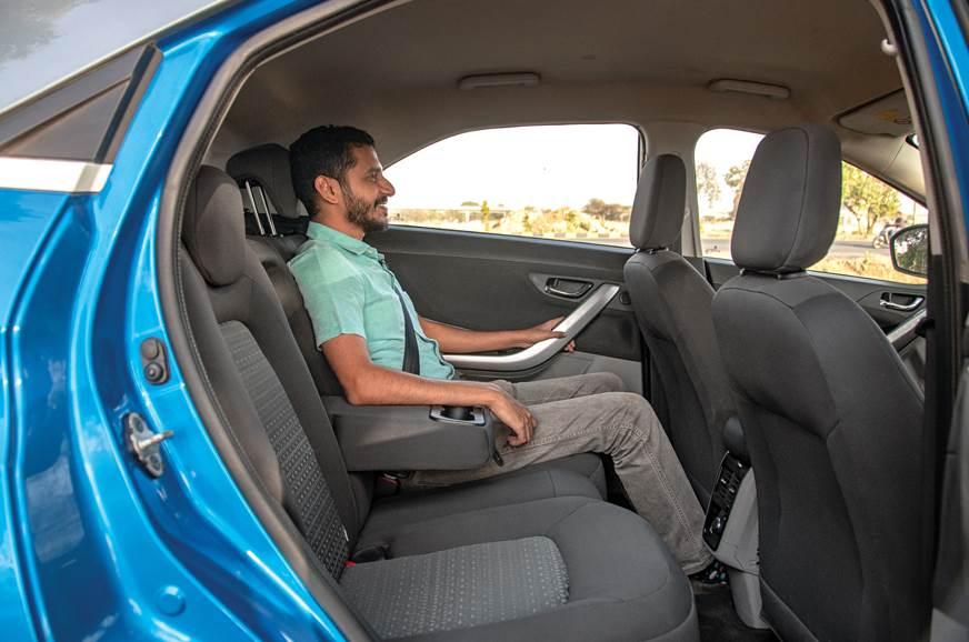 Tata Nexon rear seats