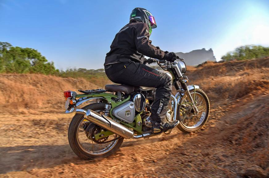 Royal Enfield Bullet Trials 500 rear action