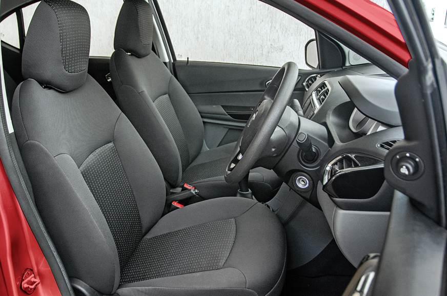 Tata Tigor XZA AMT front seats