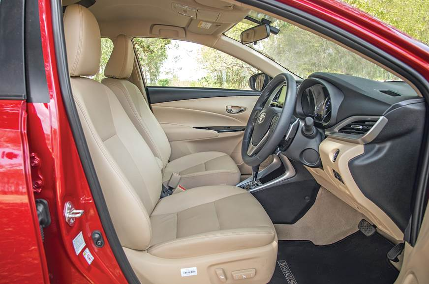 Toyota Yaris front seat