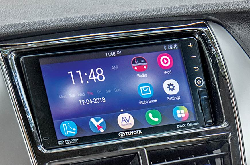 Toyota Yaris infotainment