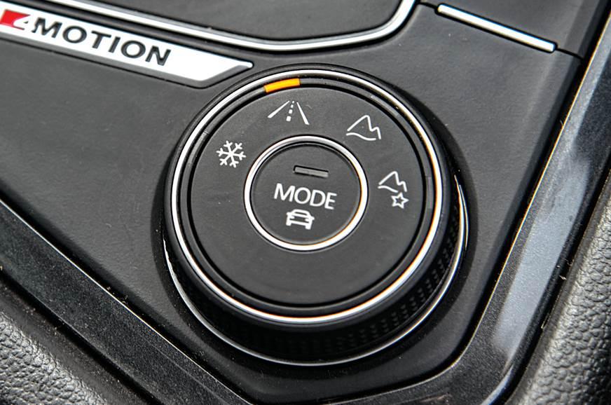 VW Tiguan AWD controls