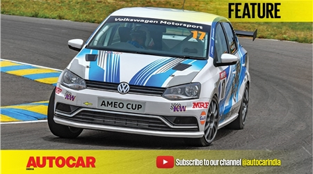 Driving Volkswagen Cup race cars in India