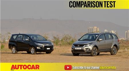 2017 Tata Hexa vs Toyota Innova Crysta video comparison