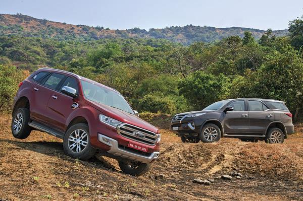 Toyota Fortuner Vs Ford Endeavour Comparison Autocar India