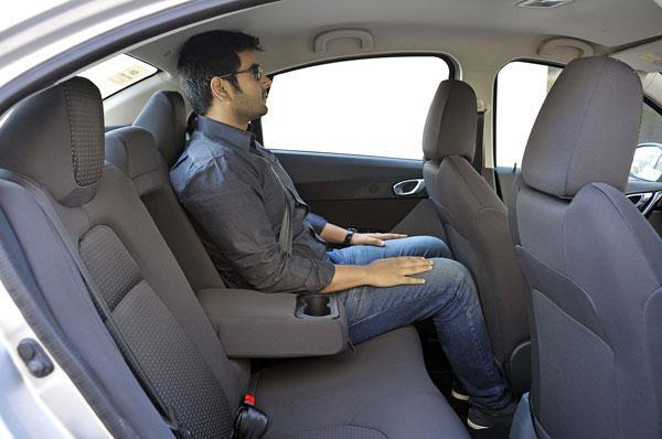 The Cabin Is Spacious Enough Even For Large Adults Rear Seat Backrest A Bit Too Reclined