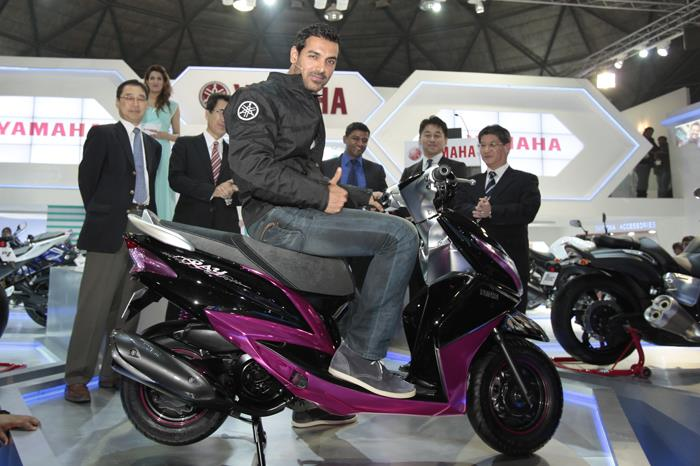 Yamaha showcases Indian scooter