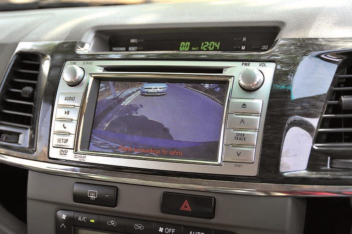 Fortuner's huge dimensions mean the reverse camera is extremely useful.