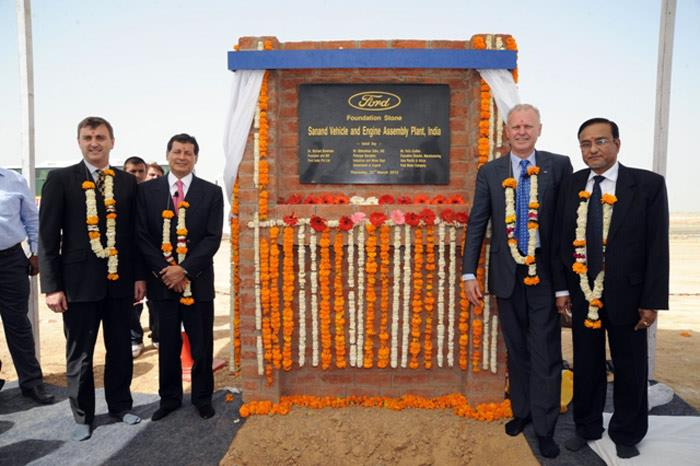 Ford lays Sanand plant foundation