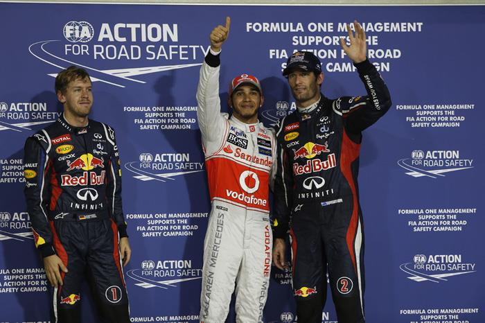 Hamilton claims dominant pole at Abu Dhabi