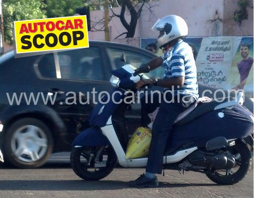 SCOOP! New TVS scooter spied