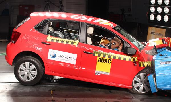 Many Indian cars score zero, European cars with airbags score better.