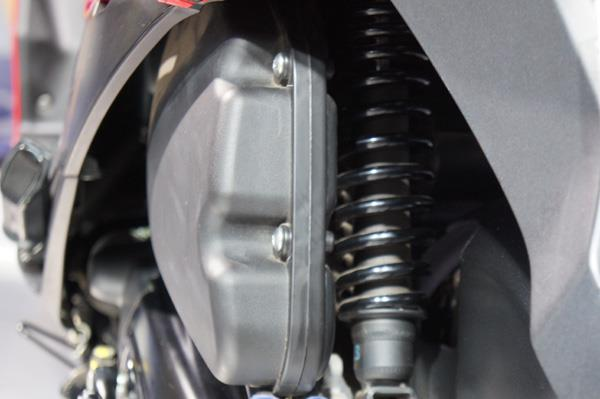 The engine doubles as a stressed member to the monoshock rear suspension.