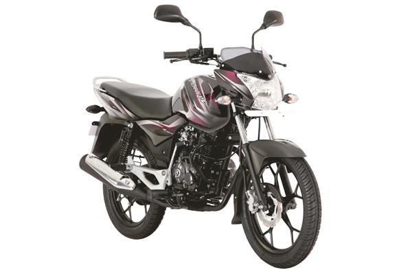 The 125M features Bajaj's proven four-stroke, 124.6cc, single-cylinder, air-cooled and carburetted DTS-i equipped powerplant that comes with a four-valve head.