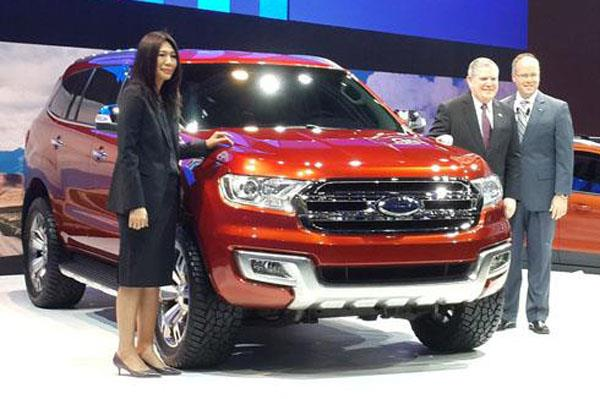 The Ford Everest concept at the Bangkok Motor Show. Photo: Autocar Indonesia.