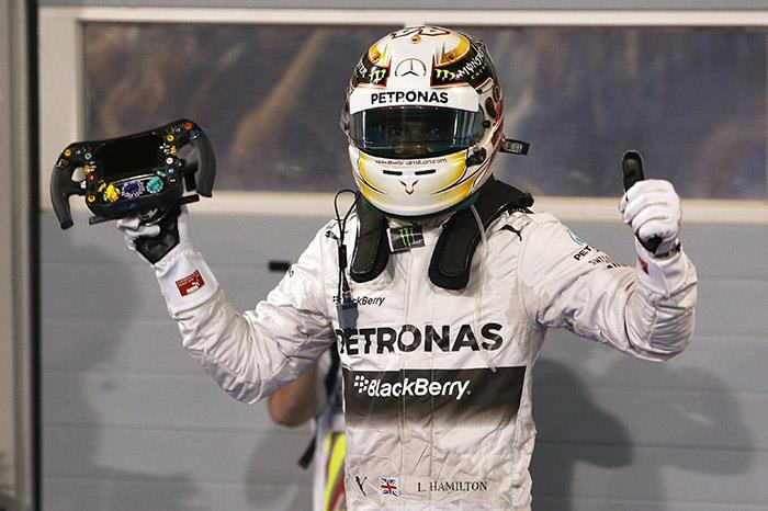 F1 Bahrain: Hamilton wins, Force India on podium