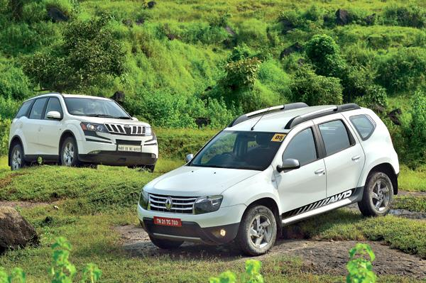 Renault Duster AWD vs Mahindra XUV500 AWD comparison