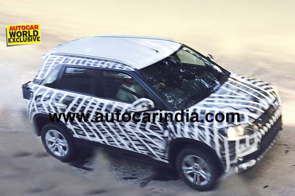 Maruti YBA compact SUV world exclusive spy photo.