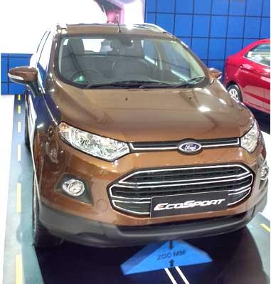 Updated Ford EcoSport showcased at APS 2015