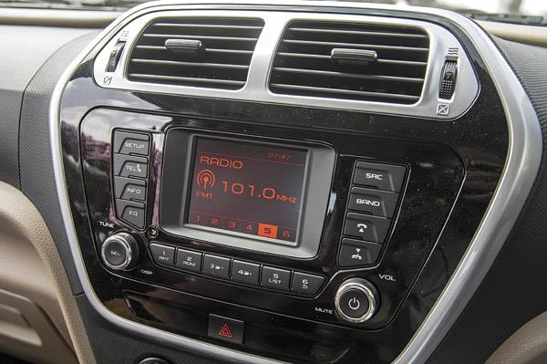 Centre console looks upmarket but monotone audio display looks dated.