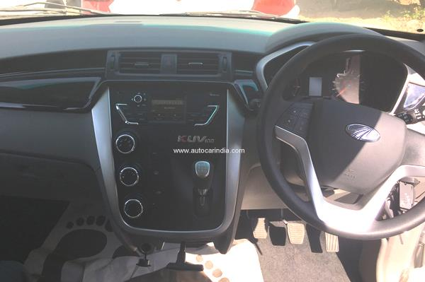 Interior photos of Mahindra KUV100 leaked