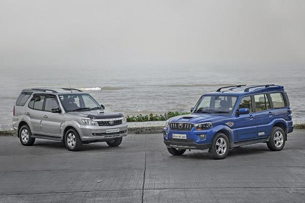 Tata Safari Storme Varicor 400 vs Mahindra Scorpio comparison