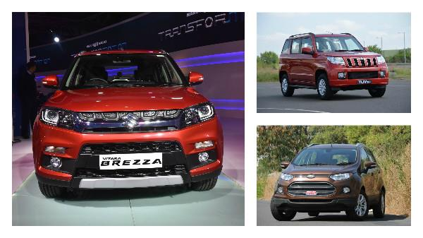 Maruti Vitara Brezza vs TUV300 vs EcoSport: Specifications comparison