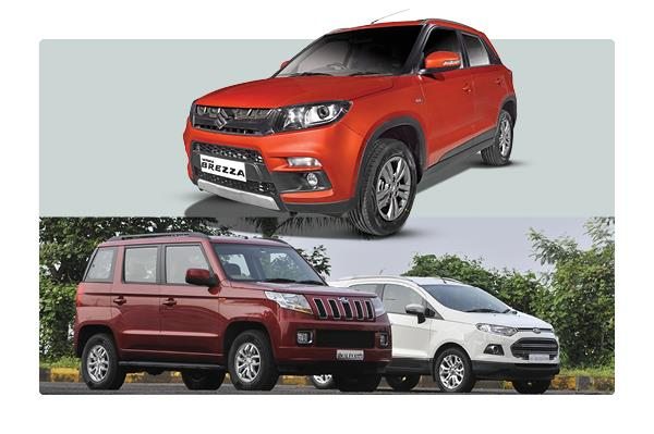 Maruti Vitara Brezza vs Ford EcoSport vs Mahindra TUV300: Feature comparison