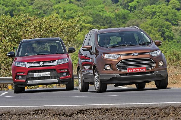 Maruti Vitara Brezza vs Ford EcoSport comparison