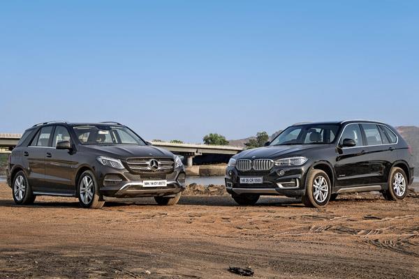 Mercedes GLE 350d vs BMW X5 30d comparison