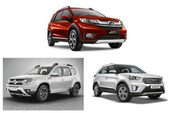 Honda BR-V, Renault Duster and Hyundai Creta: Specifications comparison