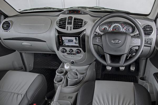 Still the same old interior as the Quanto and Xylo. The design is utilitarian and fit and finish leaves a lot to be desired. It has some practical storage though.