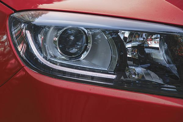 The LED front running lights are meant to resemble a bull's horns.