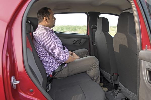 Rear seats are lower set but still spacious and comfortable.