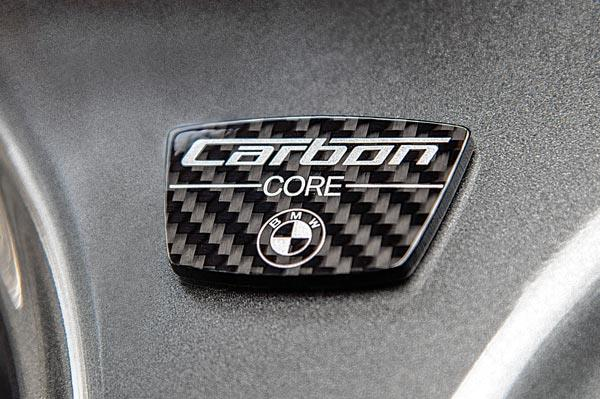 The badge says it all. New Seven uses CFRP in its construction.