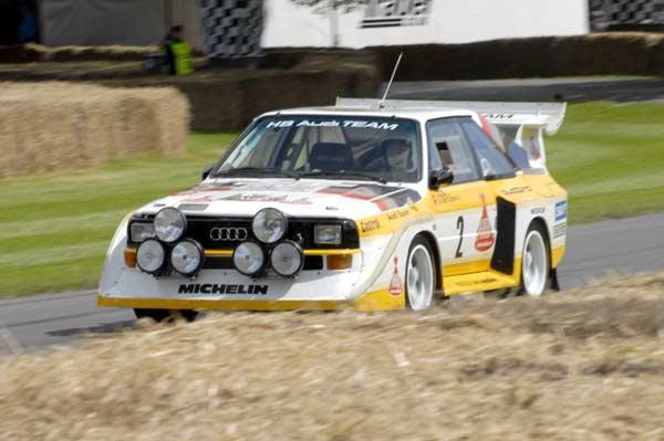 Walter Röhrl's Audi Sport Quattro S1 in action.