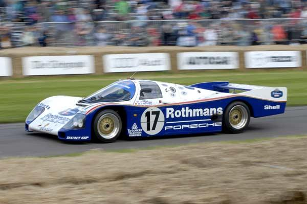 Goodwood is big on Le Mans. This 962C is one of Porsche's Group C Le Mans winners.
