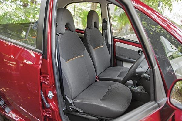 High seating position gives you a commanding view of the road.