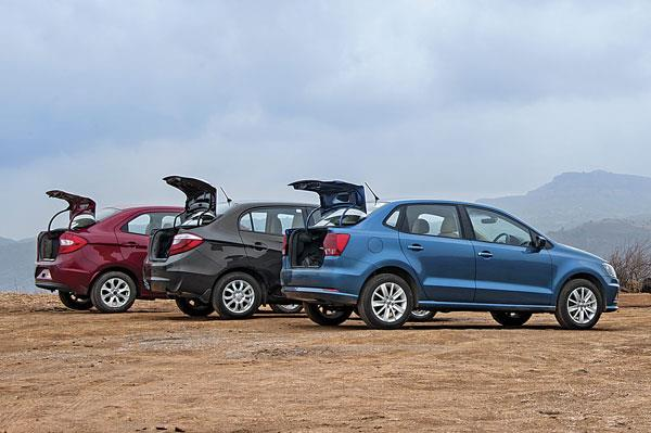 Volkswagen Ameo vs Honda Amaze vs Ford Figo Aspire comparison