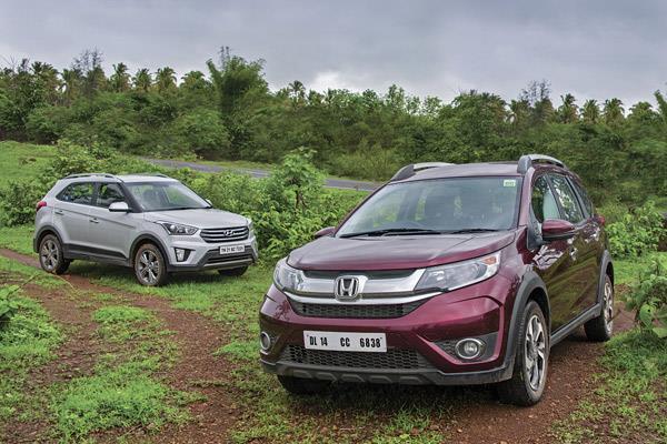 Hyundai Creta petrol auto vs Honda BR-V CVT comparison