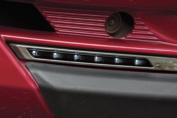 Optional LED lights in the bumper are a segment first and add some bling.