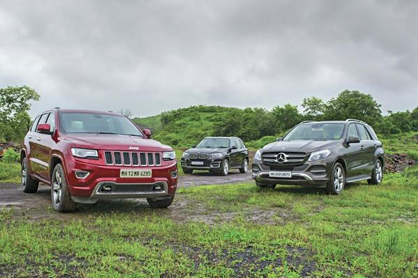 Jeep Grand Cherokee vs Mercedes GLE vs BMW X5 comparison