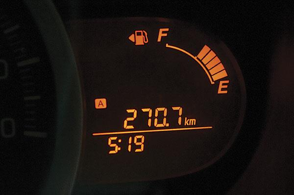 Around 600km on just one tank of diesel! Amazing range for long hauls.
